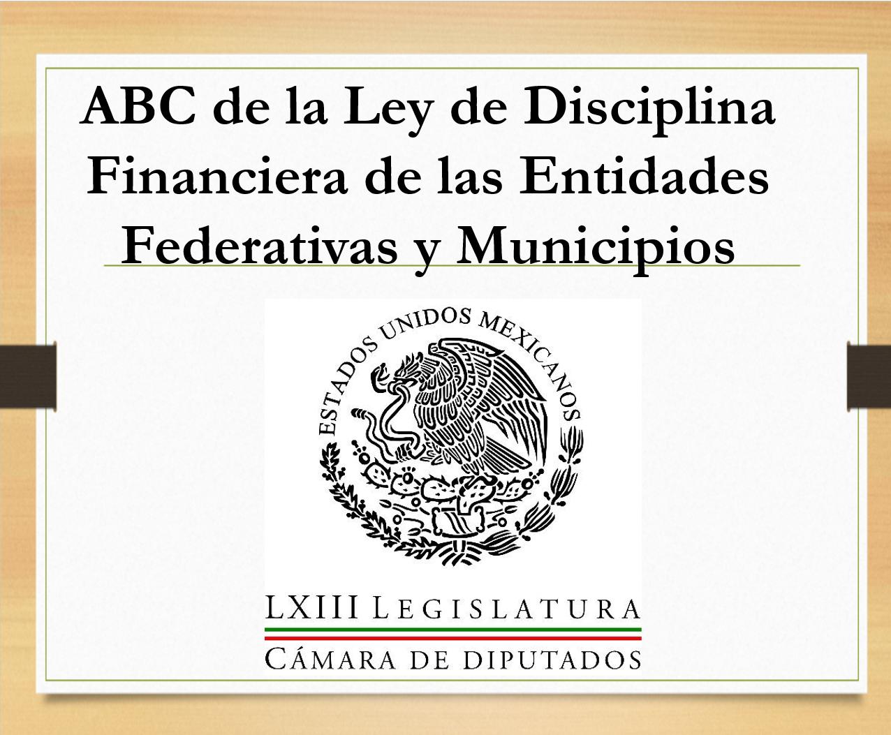 LEY DE DICIPLINA FINANCIERA